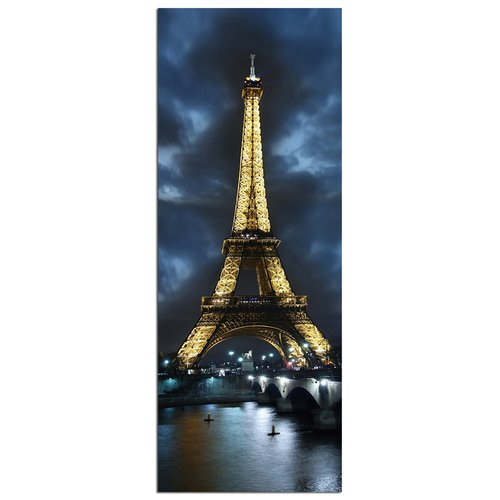 Modern Home Ultra High Resolution Tempered Glass Wall Art - Paris Eiffel Tower 3