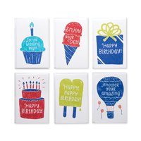 "American Greetings Birthday Greeting Cards, 48 Count, 3.25"" x 6.75"", Envelopes Included"