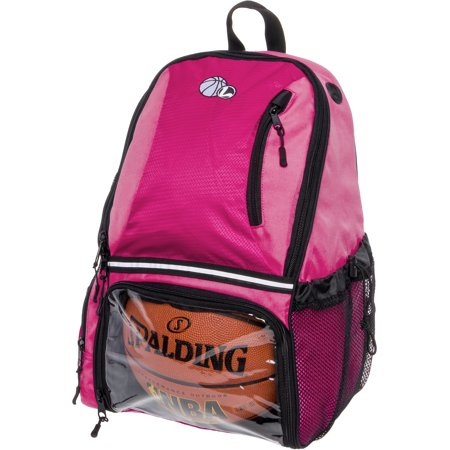 - LISH Girl's Large School Sports Basketball Backpack Bag w/ Ball Compartment