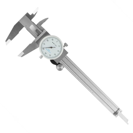 (Dial Caliper- Stainless Steel and Shock Proof Tool With Plastic Carry Case, 0- 6 Inch Measuring Range For Accurate Measurements by Stalwart)