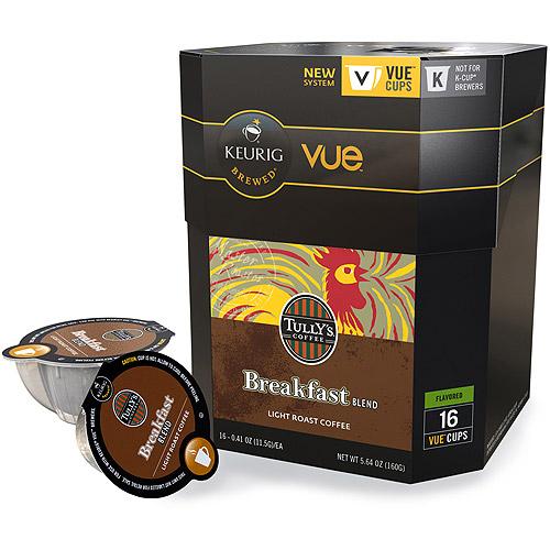 Keurig Vue Pack Tully's Coffee Breakfast Blend Coffee, 16ct