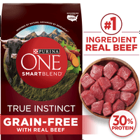 Purina ONE Grain Free Natural Dry Dog Food; SmartBlend True Instinct With Real Beef & Sweet Potato (Various Sizes)