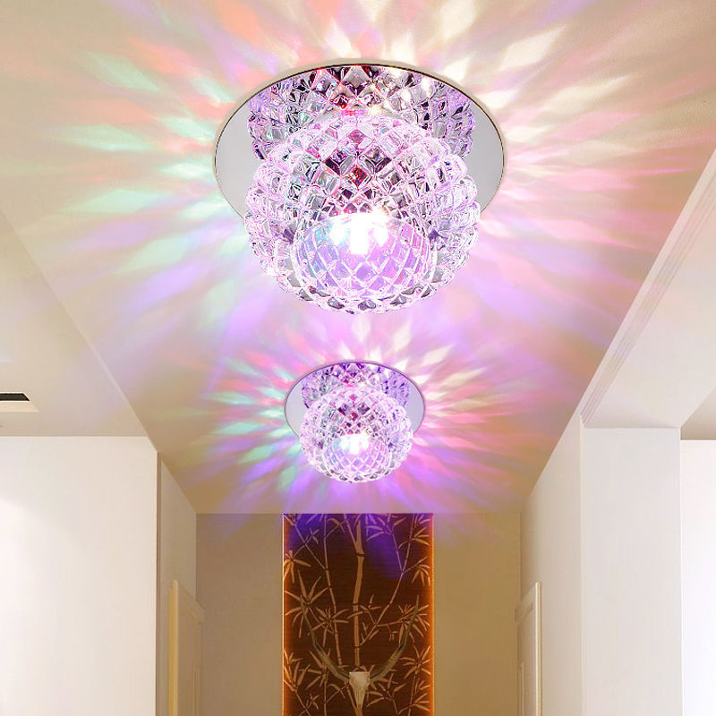 Modern Crystal 5W LED Ceiling Light Fixture Pendant Lamp Lighting Chandelier