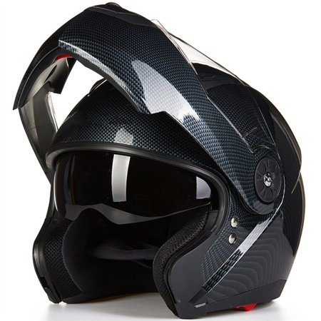 ILM Motorcycle Modular Flip up Dual Visor Helmet DOT Approved 5 Colors Available ()