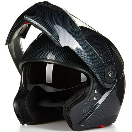 - ILM Motorcycle Modular Flip up Dual Visor Helmet DOT Approved 5 Colors Available