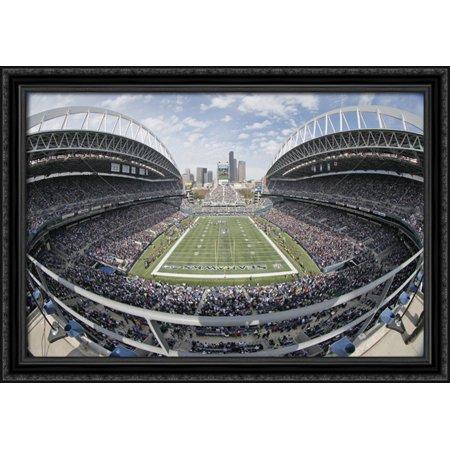 Centurylink Field 40X28 Large Black Ornate Wood Framed Canvas Art   Home Of The Seattle Seahawks