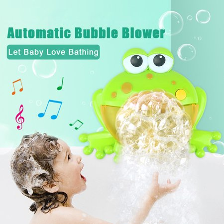 Iuhan Bubble Machine Big Frogs Automatic Bubble Maker Blower Music Bath Toy For Baby - Bubble Blowing Double Baby