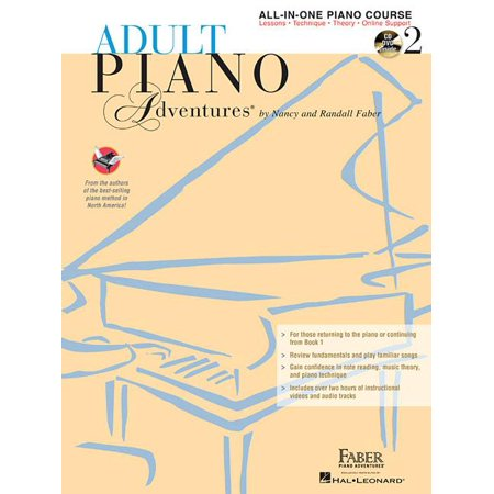 Adult Piano Adventures All-In-One Lesson Book 2: Book with CD, DVD and Online Support (Other)](Adult Stores Online)