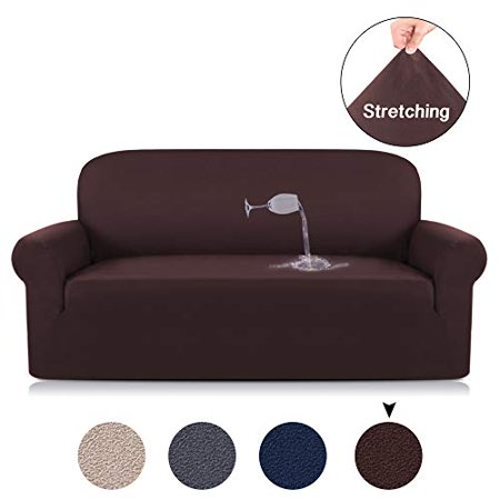 Surprising Sofa Slipcover 1 Piece Rich Suede With Spandex Fabric 1 Piece Stretch Slipcover Strapless For Loveseat Sofa No Slipping Furniture Covers Sofa Brown Gmtry Best Dining Table And Chair Ideas Images Gmtryco