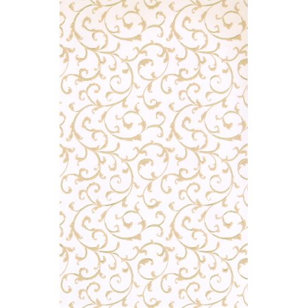 FLORAL - Modern Prepasted Cream Wallpaper Roll - image 1 of 1
