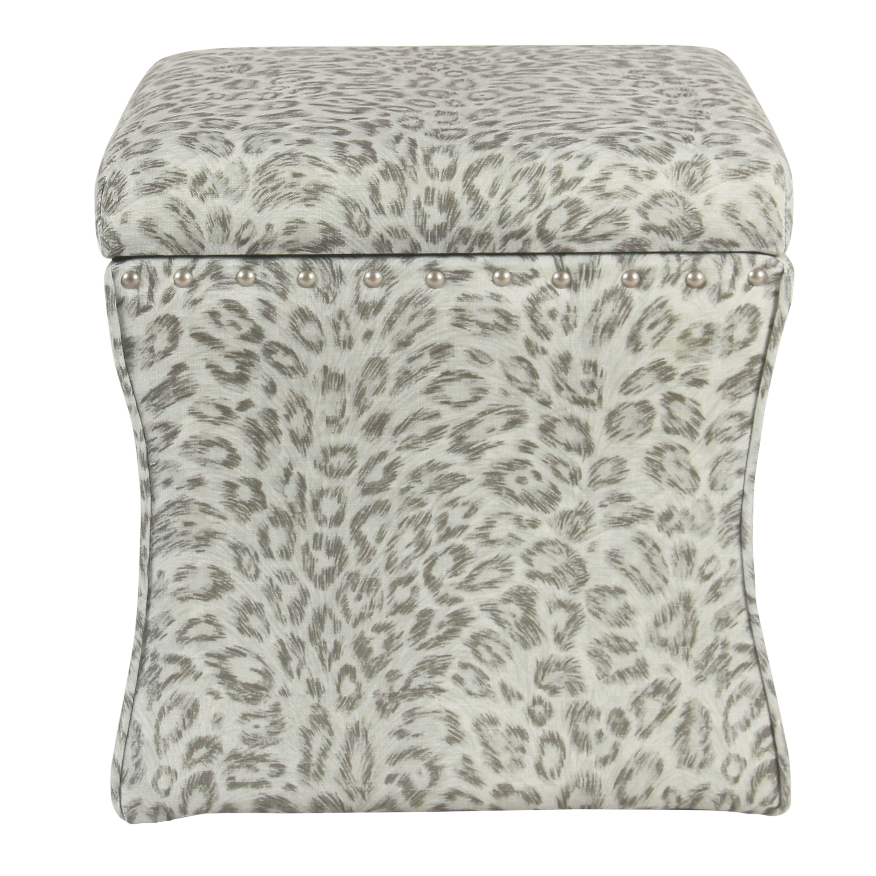 HomePop Cinch Storage Ottoman with Nailheads, Multiple Colors