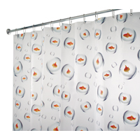 SHOWER CURTAIN BUBL FISH 72X72