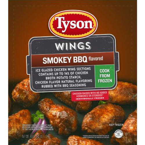 Tyson Smokey BBQ Seasoned Chicken Wings, 2.5 lbs.