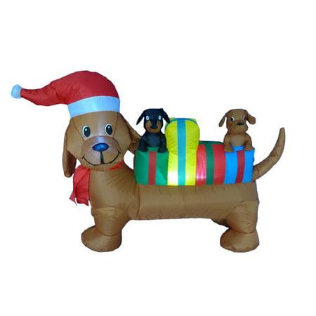 Aisle Decorations (The Holiday Aisle 4 Foot Long Christmas Dog)