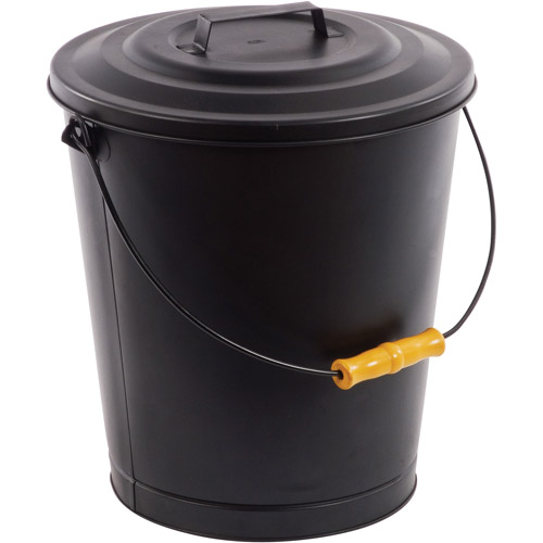 Pleasant Hearth Fireplace Ash Bucket with Lid - Walmart.com