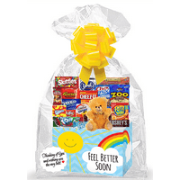 Feel Better Soon (Get Well) Thinking Of You Cookies, Candy & More Care Package Snack Gift Box Bundle Set - Arrives in 3-4Business Days