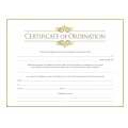 Certificate-Ordination-Minister w/Gold Foil Embossing (Parchment) (8 ...