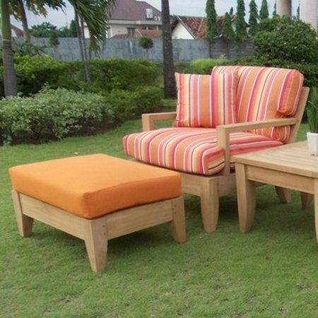 Grade A Teak Wood Sofa Set 5pc 4 Seater Teak Sofa Lounge Chair Set 4 Lounge Chairs 1 Sack Round Coffee Table Furniture Only Atnas Collection