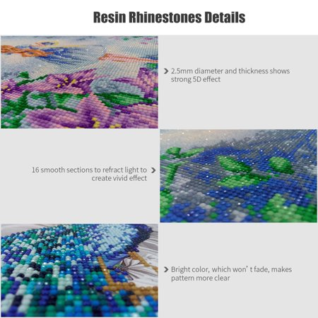12 * 12 inches/30 * 30cm DIY 5D Diamond Painting Kit Bear Resin Rhinestone Embroidery Cross Stitch Craft Home Wall Decor - image 3 of 7