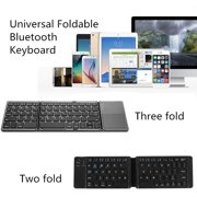 HOTBEST Universal Foldable Bluetooth Keyboard USB Charging Cable Wireless Keyboard For IOS Android Windows PC Tablets Smartphone