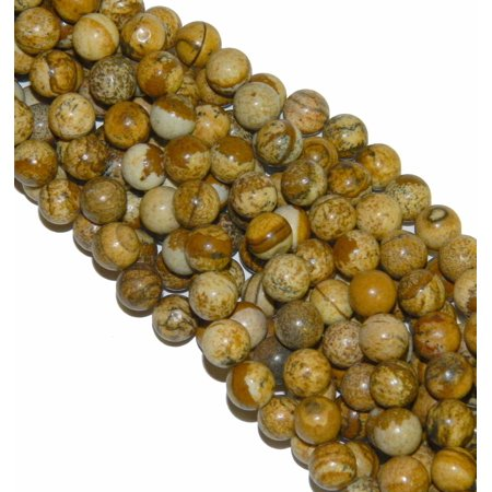 - 12mm Picture Jasper Round, Loose Beads, 40cm 15 inch Gemstone
