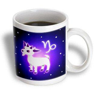 3dRose Cute Astrology Capricorn Zodiac Sign Goat, Ceramic Mug, 11-ounce Capricorn Zodiac Mug