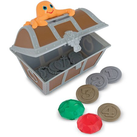 Melissa & Doug Sunny Patch Undersea Treasure Hunt Pool Game with Floating Chest and 6 Treasure Pieces