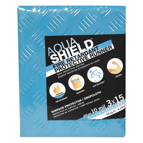 AQUASHIELD 87015 FireRetardant Drop Cloth, Teal, 15ftLx3ftW