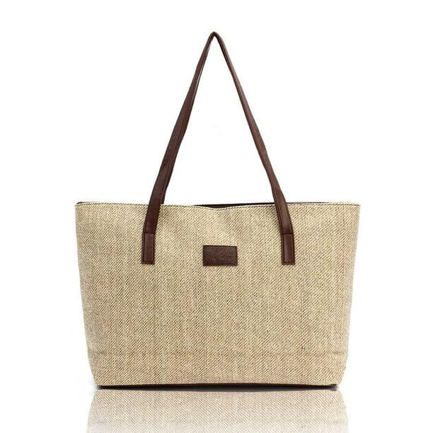 Fashion Women Canvas Handbag Shoulder Bags Casual Retro travel Shopping Totes
