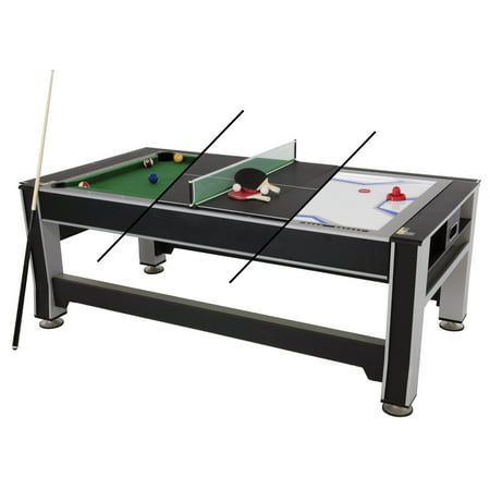 Triumph 3-in-1 Rotating Swivel Multigame Air Hockey, Billiards Pool, and Table Tennis