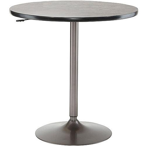 Adjustable Bistro Table, Oyster Grey