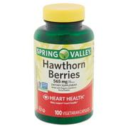 Spring Valley Hawthorn Berries Vegetarian Capsules, 565 mg, 100 count