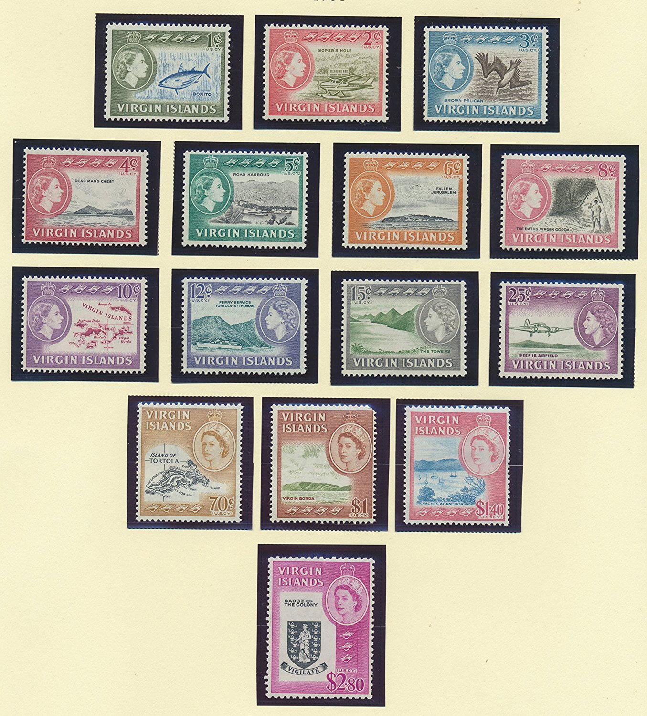 British Virgin Islands Stamp Set Scott #144 To 158 (144-58), Mint, Some  Hinged, British Virgin Islands Scenery, Map, Badge Issue From 1964 -  Walmart.com