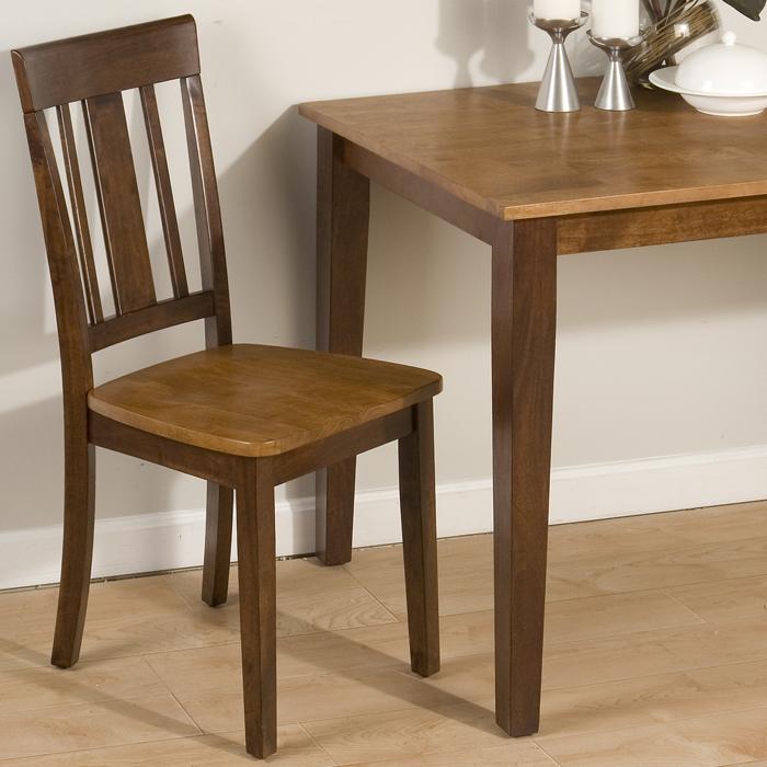Jofran 875 Kura Espresso Canyon Gold Triple Upright Side Chair by