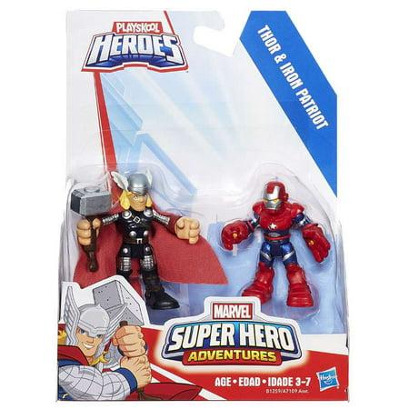 Marvel Super Hero Adventures Thor & Iron Patriot Action ...