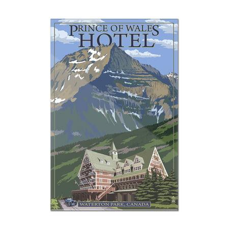 Waterton Lakes National Park  Canada   Prince Of Wales Hotel   Lantern Press Artwork  8X12 Acrylic Wall Art Gallery Quality