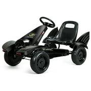 Go Kart Pedal Powered Kids Ride on Car 4 Wheel Racer Toy w/ Clutch & Hand Brake
