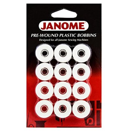 Embroidery Bobbin - Janome Prewound Embroidery Machine Bobbins 12 per Card