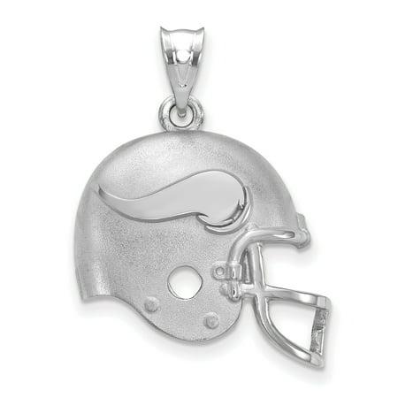 Viking Helmet Football (Minnesota Vikings Sterling Silver Football Helmet Pendant - No)
