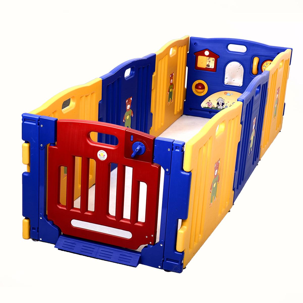Costway Baby Playpen Kids 8 Panel Safety Play Center Yard Home Indoor  Outdoor Pen   Walmart.com