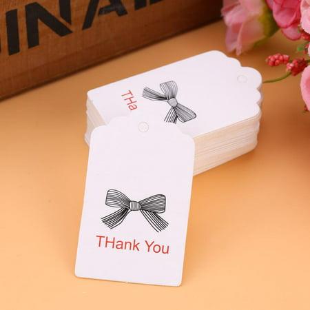 Yosoo 100pcs White Handmade Hang Label Wedding Favor Gift Tags