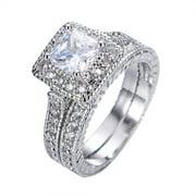 Best Wedding Rings - 2.25 Carat Princess Cut Moissanite Wedding Set Review