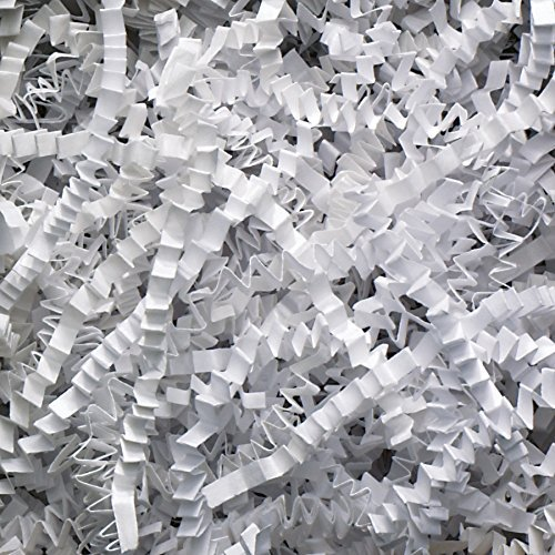 White 2 Pound Crinkle Cut Paper Shred