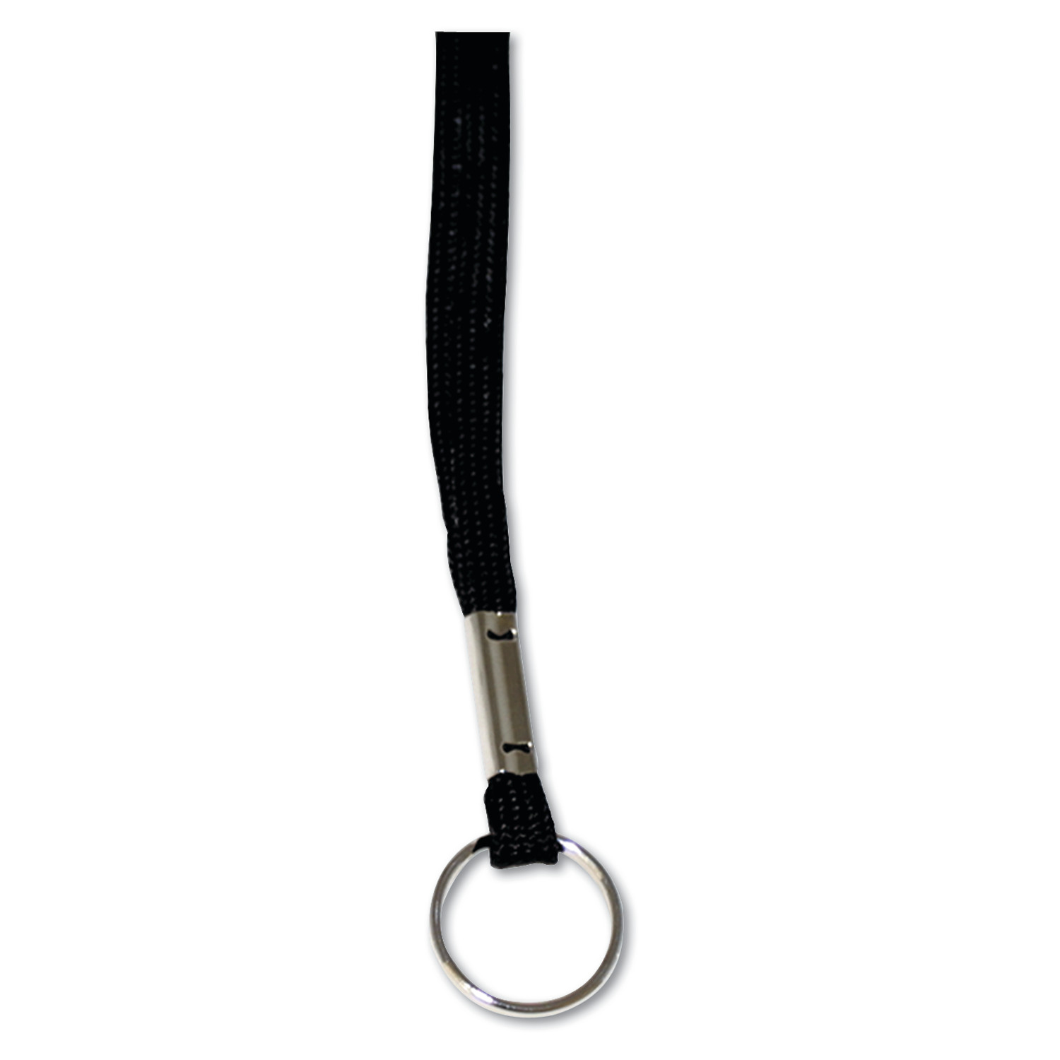 "Advantus Deluxe Lanyards, Ring Style, 36"" Long, Black, 24/Box"