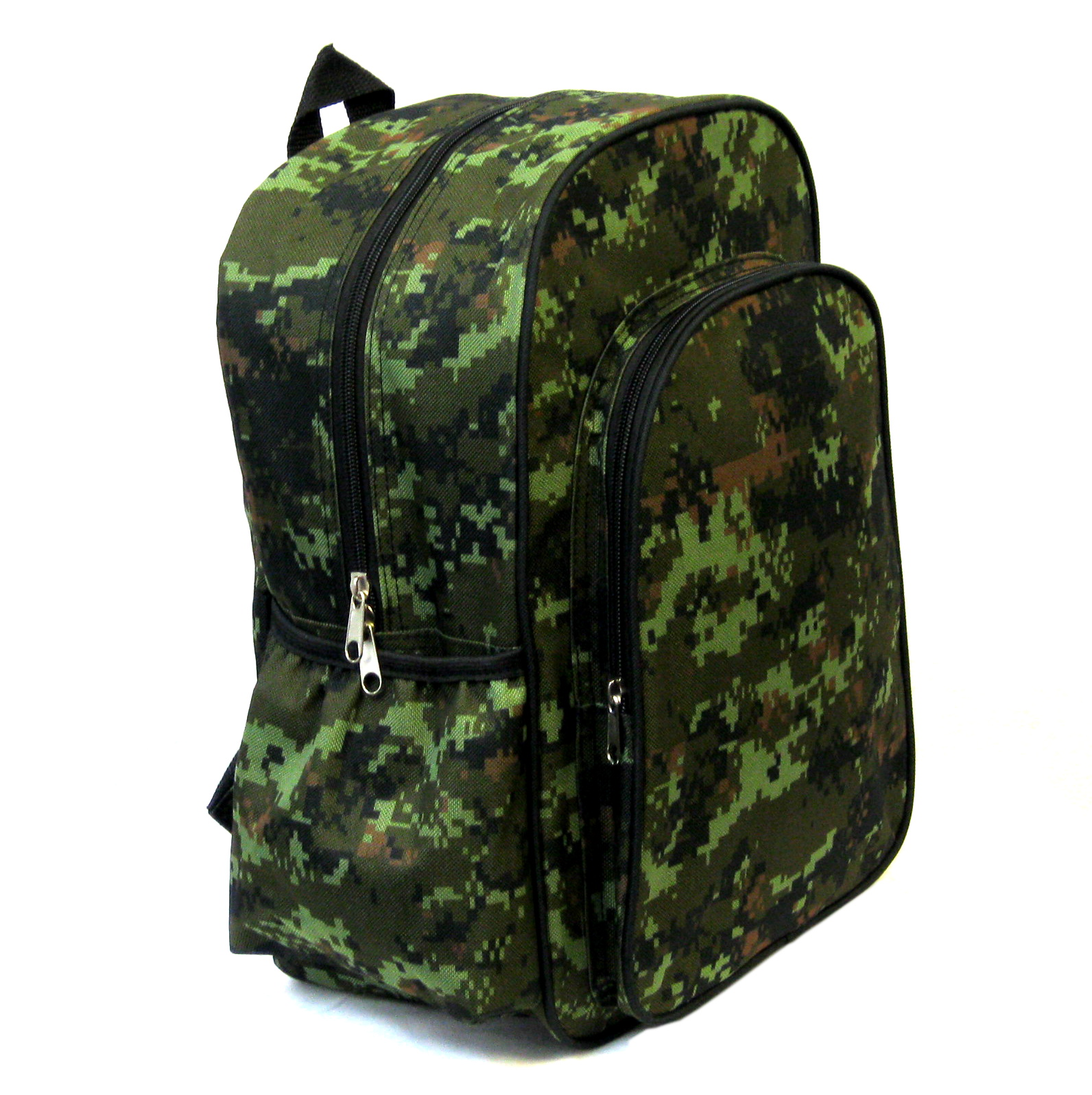 "Kids Backpack 14"" Bag Woodland Camo for school, hiking, camping, travel, boys"