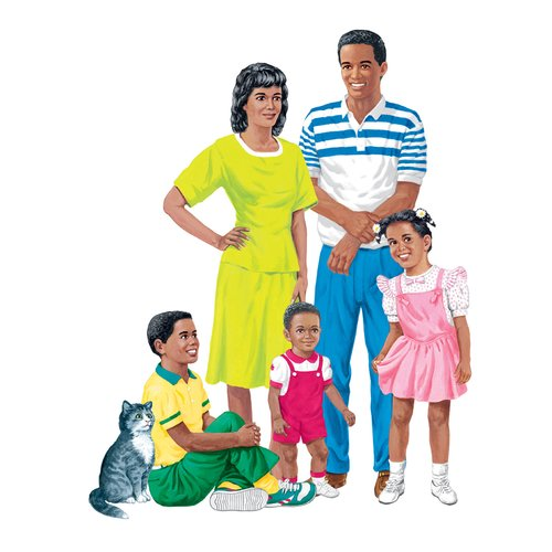 Little Folks Visuals African American Family Bulletin Board Cut Out