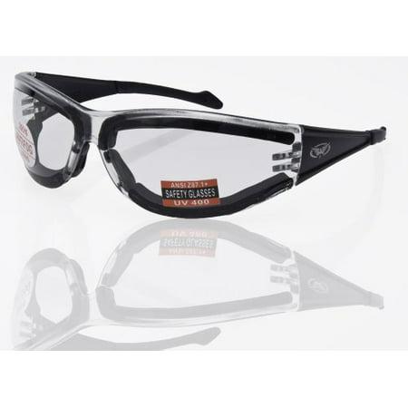 Full Throttle Motorcycle Wrap Around Safety Glasses Neoprene Foam Padding