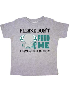 b93c0a13 Product Image Please Dont Feed Me I Have a Food Allergy with Elephant and  Ribbon Toddler T-. Product Variants Selector. 3/4 Sleeve Heather Smoke