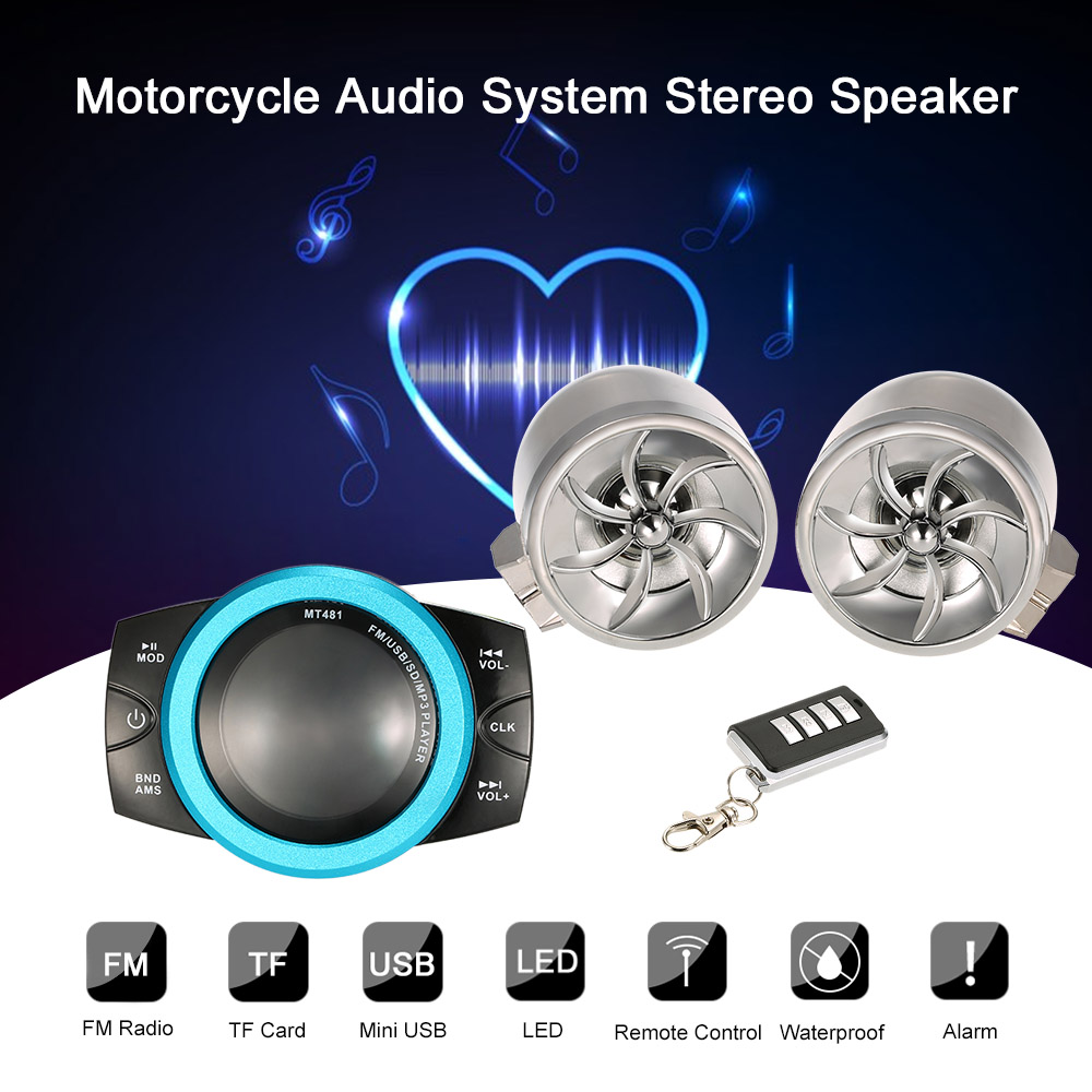 12V 14W Universal Motorcycle Waterproof Audio System Spea...