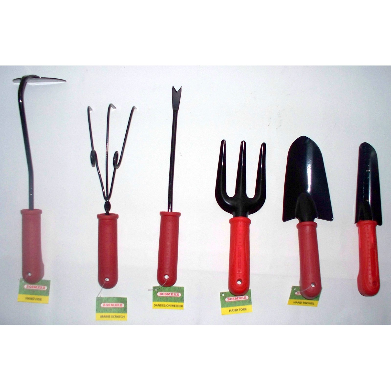Bosmere Hand Tools with Red Handles - Set of 6